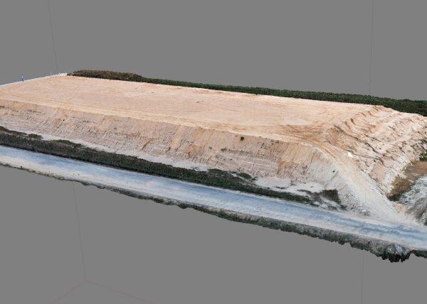 pomiar objetosci nasypu z drona